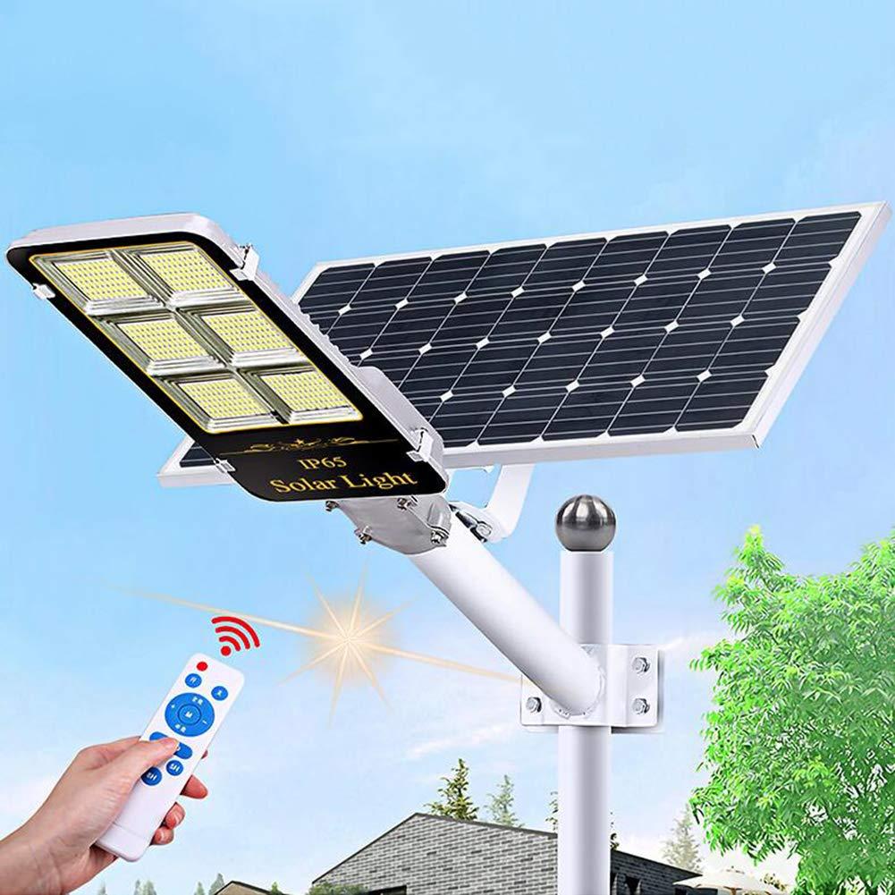 LYZL Farola Solar LED para Exteriores, 50W ~ 500W con Soporte Ajustable y Control Remoto Impermeable iluminación Vial, luz Solar para Patio, Jardín,400W: Amazon.es: Hogar