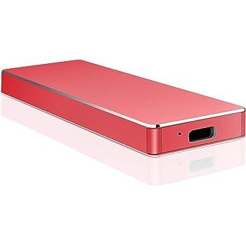Disco Duro Externo 1 TB 2TB, Disco Duro Externo USB3.1 Type C para PC, Mac, Xbox One. (1TB, Rojo): Amazon.es: Electrónica