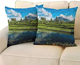RuppertTextile Volcano Customized Pillowcase Mayon Mountain Philippines Soft and Durable W19 x L19
