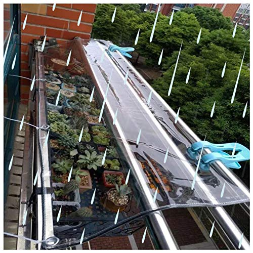LIANGLIANG Tarpaulin Waterproof Heavy Duty, Thicken Transparent PVC Curtains, Shade Rainproof Windproof Sand Sun Room Plant Shed Window, Multiple Sizes, Support Customization