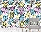 Tapete 3D Einfache Blatt Laub Farbe Modern Wohnzimmer Schlafzimmer Großes Wandbild Wanddekoration-400cmx280cm Fototapete - Vlies - Wandsticker - Plakatdekoration