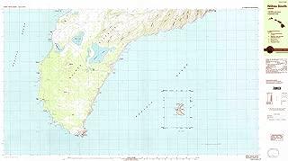 YellowMaps Niihau South HI topo map, 1:25000 Scale, 7.5 X 15 Minute, Historical, 1984, Updated 1984, 26.2 x 47.2 in