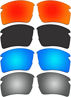 4 Pair Replacement Polarized Lenses for Oakley Flak 2.0 XL Sunglasses OO9188 Pack P7