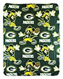 NFL Green Bay Packers Mickey Mouse Character Fleece Throw, 40 x 50-inches