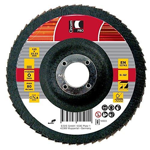 Circumpro 4333097024908taglia 60Flat grain macinazione piastra, nero, 115mm