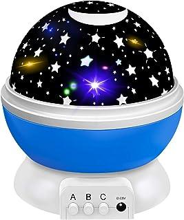 Tesoky Luz Nocturna Infantil 1-12 Años Proyector Estrellas Juguetes, con Cambio de 8 Colores y Rotación 360° - Juguete & Regalos para Niño & Niña