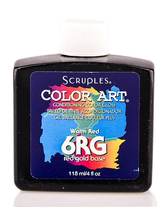 ペースト心理学黒人Scruples カラーアートコンディショニングカラーグロスウォーム赤6RG 4オンス118ミリリットル