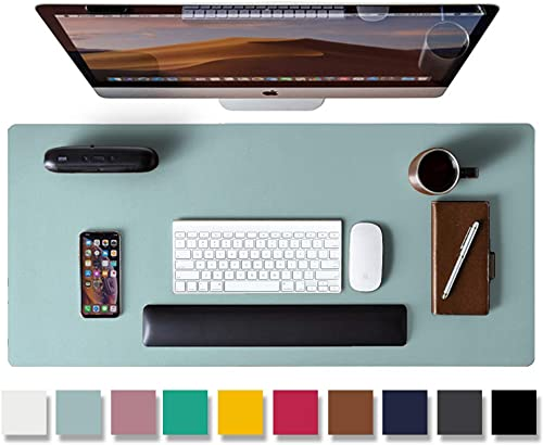 Leather Desk Pad Protector,Mouse Pad,Office Desk Mat, Non-Slip PU Leather Desk Blotter,Laptop Desk Pad,Waterproof Des...