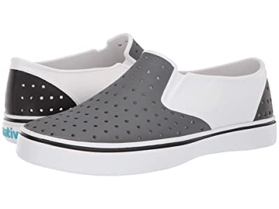 Native Shoes Miles (Shell White/Dublin Grey/Jiffy Black Block) Athletic Shoes