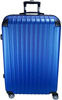 """SRY-Luggage ABS Material Simple Trolley Case, Super Storage Bag, Roller Walking Scroll Box, 20"""" 24"""" Inches Durable Carry on Luggage (Color : Blue, Size : 20inch)"""