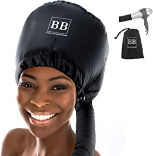 Bonnet Buddy Adjustable Soft Hood Hair Dryer Attachment for Handheld Hair Dryer- Travel Size/One Size Fits All