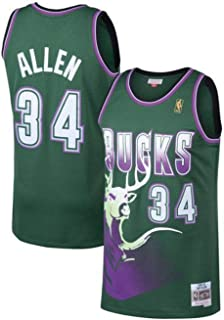 ray allen bucks jersey mitchell and ness
