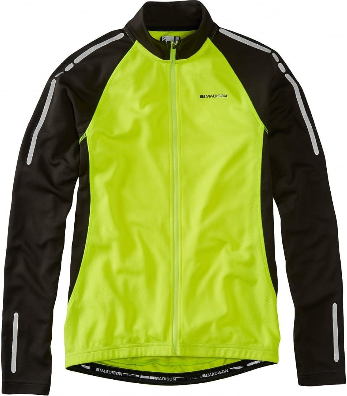 Madison Shocking orange 2016 Stellar Thermal Long Sleeved Cycling Jersey