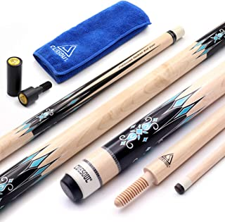 CUESOUL 3 Cushion Carom Billiard Cue Red 56inch Weight 18oz,Wooden Joint System