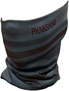 Phunkshun Wear - Double Layer Thermal Neck Tube (Stripes Slate Blue, One Size)