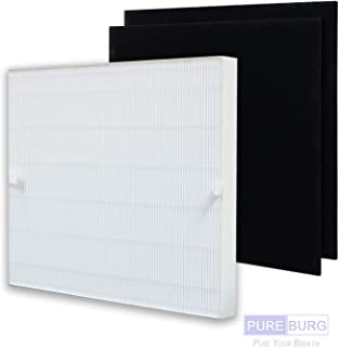 Pureburg Replacement Filter Set - 1 HEPA Filter and 2 Carbon Pre-Filters for Coway AP-1512HH AP1512HH AP1512 Air Purifier Replaces Part 3304899