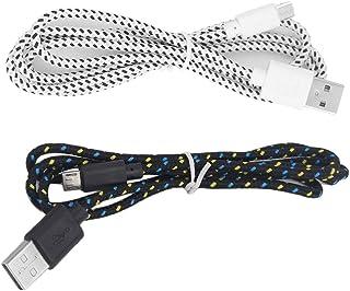 黒と白の軽量最大2.1A出力V8マイクロ2.0 USBフラット麺データ充電器ケーブルfor Android携帯電話