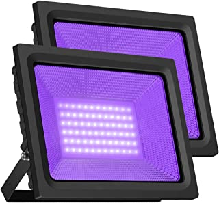 2 light black flood light