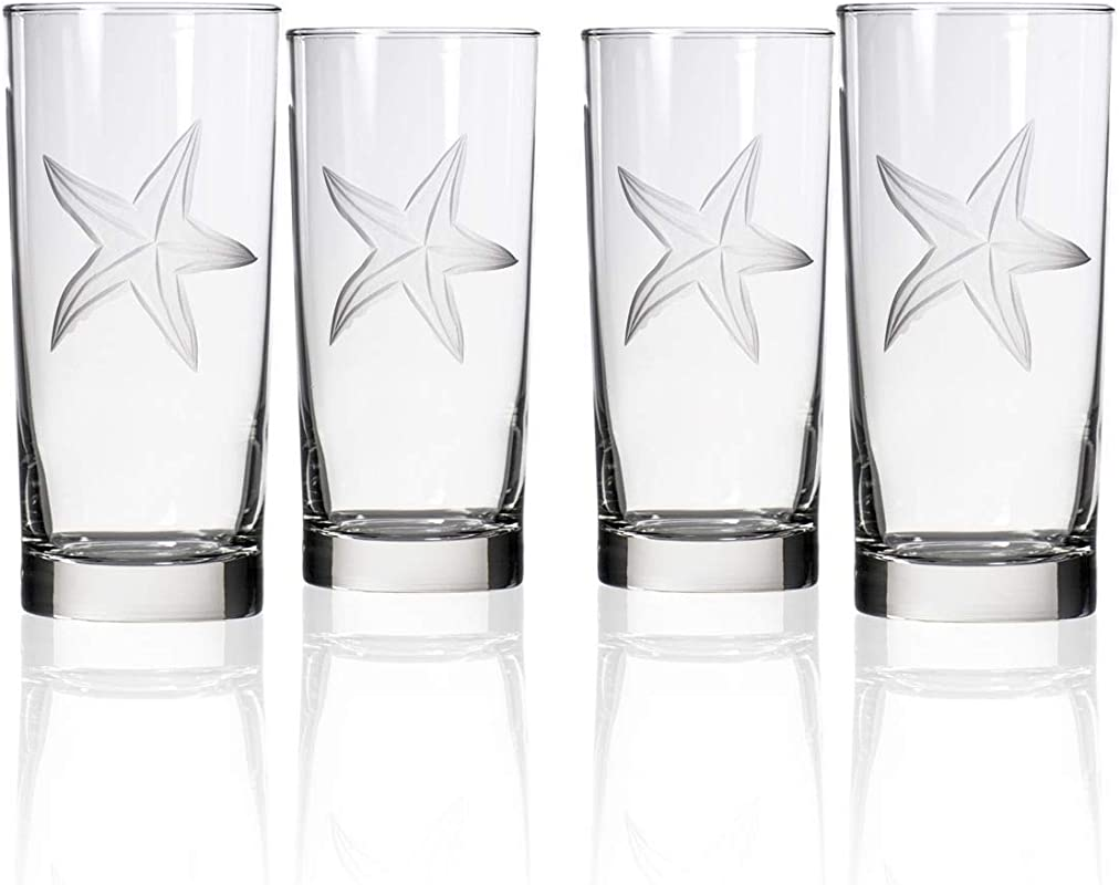 Rolf Glass 400013S 4 Starfish Cooler Drinking Glass Clear