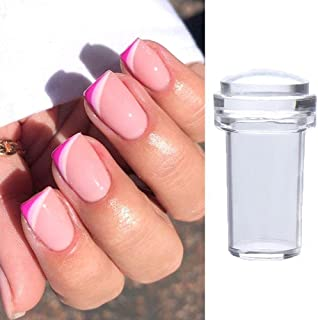 Myynti Silicone Jelly Nail Stamper with Image Scraper Cap Nail Stamping Transfer Printing Tools Manicure Nails Accessories...