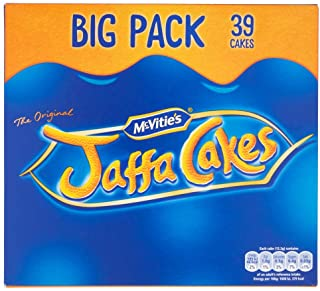Original McVitie's Jaffa Cakes Big Pack Imported From The UK England The Very Best Original British Jaffa Cakes A Genoise Sponge Base Layer Of Orange Flavored Jam Coating Of Sponge