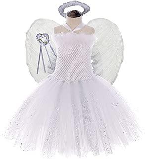Tutu Dreams 4PCS Sweet Angel Costumes Tutu Set for Girls 2-12Y Birthday Party