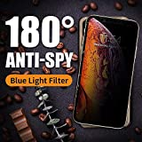 PERFECTSIGHT Privacy Screen Protector Compatible with Apple iPhone 11 Pro Max, iPhone Xs Max 2018-55% Anti Glare Anti Spy Blue Light Filter Tempered Glass (6.5 inch)