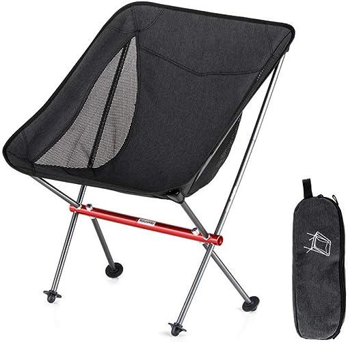 ZMCKD Chaise de Camping Pliante Chaise de Plage Pliante compacte en Aluminium portative extérieure et Pliable Chaise de Camping Pliable pour la pêche