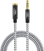 3.5mm Headphone Extension Cable, CableCreation 3.5mm Male to Female Stereo Audio Extension Cable Adapter with Gold Plated Connector, 3 Feet/ 0.9M
