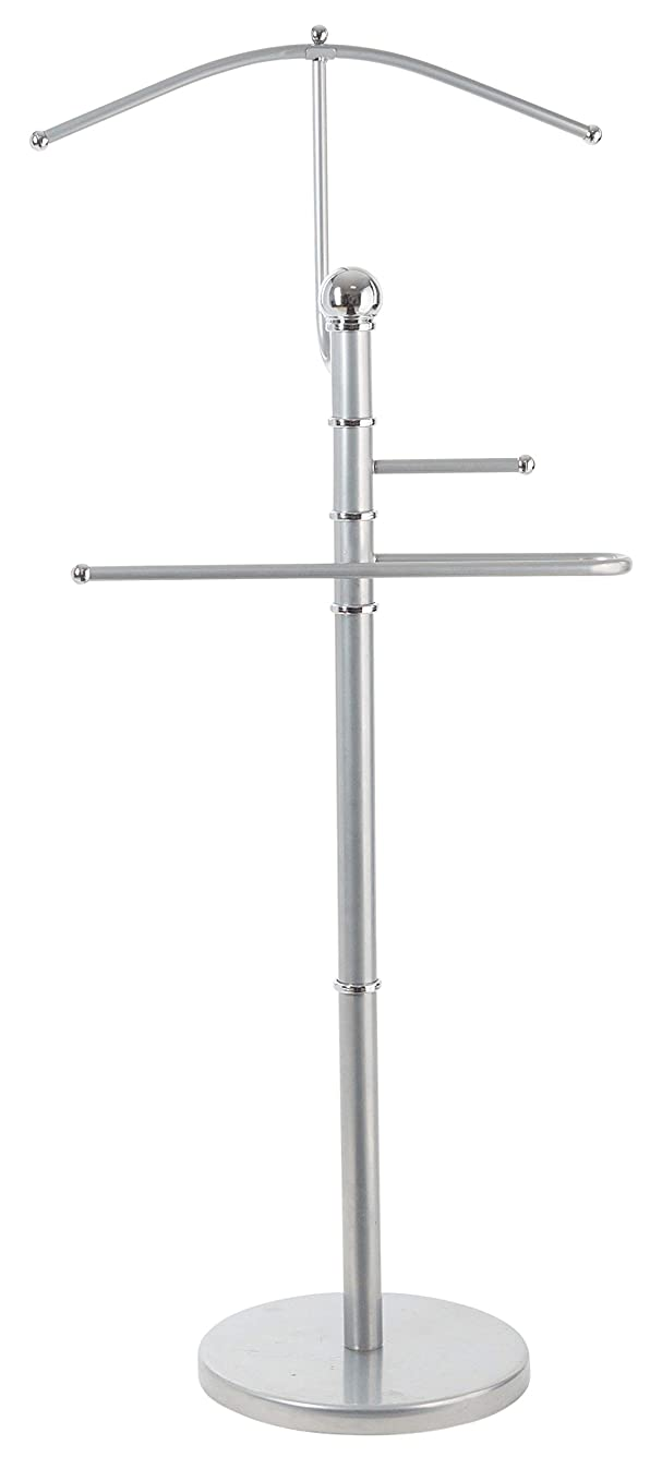 StorageMaid Metal Suit Valet Stand - Gorgeous Chromed Metal with Finished Detail – Best Organization Solution for Bedrooms, Master Closets, and Dorm Rooms - Prime Gift Idea for Women