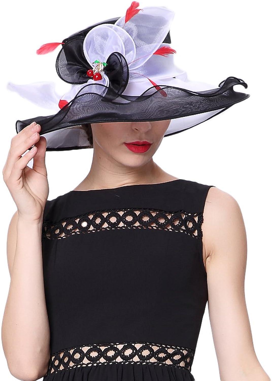 Koola's hats Women Hat Organza Hat Derby Wedding Hat Sunhats