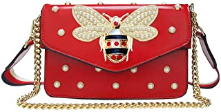 Fashion Handbags for Women, Pu Leather Shoulder Bags Cross body Bag with Bee