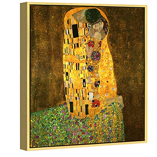 Klimt's The Kiss Framed Wall Art