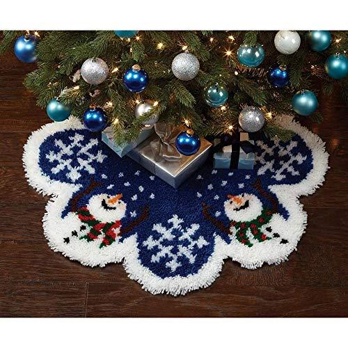 Herrschners Snow Happy Tree Skirt Latch Hook Kit