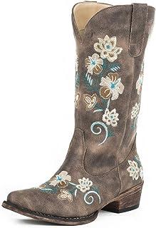 حذاء Riley Floral Fashion للنساء من Roper، بني، 9 D US