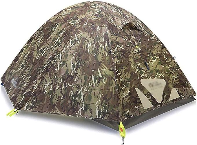 SLIANG Organisation familiale, Camping Tente, Tente de Polyester de Double Couche de Polyester de Polonais en Aluminium d'utilisation de Double Triple-Windproof et Rainproof