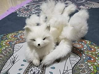 FidgetKute Imitation Plush Toy Nine-Tailed Fox Doll Myth Collection Toy Girls Kids Cosplay White