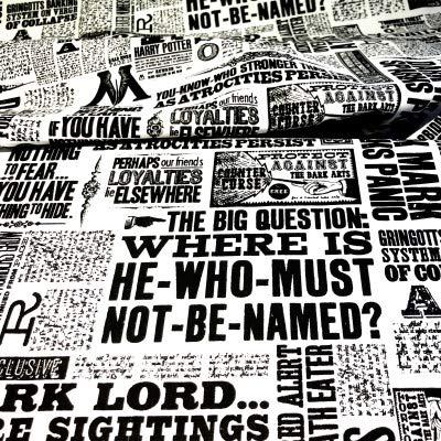 Stoff, Harry-Potter-Motiv, 100% Baumwolle VISF56 - Harry Potter - Die tägliche Prophet Zeitung