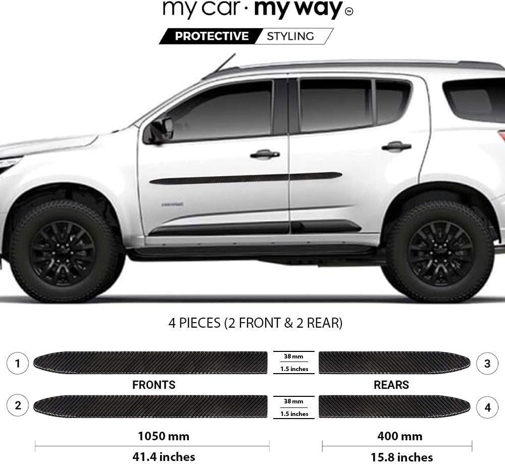 my car way Real Black Carbon Fiber Molding Fi Side Body Trim Max 54% OFF Finally popular brand