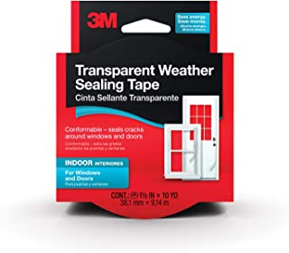 3M Interior Transparent Weather Sealing Tape for Windows and Doors, Moisture Resistant Tape, 1.5 in. x 10 yd. Roll