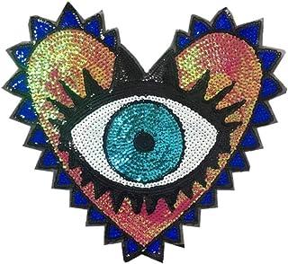 6Pcs Star Crystal sew iron on patch badge vêtements Applique Sac Tissu 50 mm