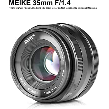 MEIKE MK-35mm F/1.4 Manual Focus Large Aperture Lens Compatible with Olympus Panasonic Micro Four Thirds M4/3 System Mirrorless Camera: Amazon.es: Electrónica