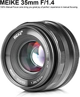 MEIKE MK-35mm F/1.4 Manual Focus Large Aperture Lens Compatible with Sony APS-C Mirrorless Camera Such as A6000 A6300 A6500