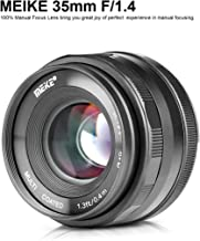 MEIKE MK-35mm F/1.4 Manual Focus Large Aperture Lens Compatible with Fujifilm Mirrorless Camera Such as X-T1 X-T2 X-T3
