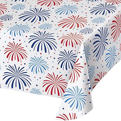 Creative Converting Plastic Tablecloth, One Size, Multicolor