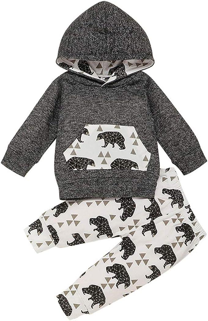 Jurebecia Newborn Baby Boy Clothes Letter Print Romper+Long Pant