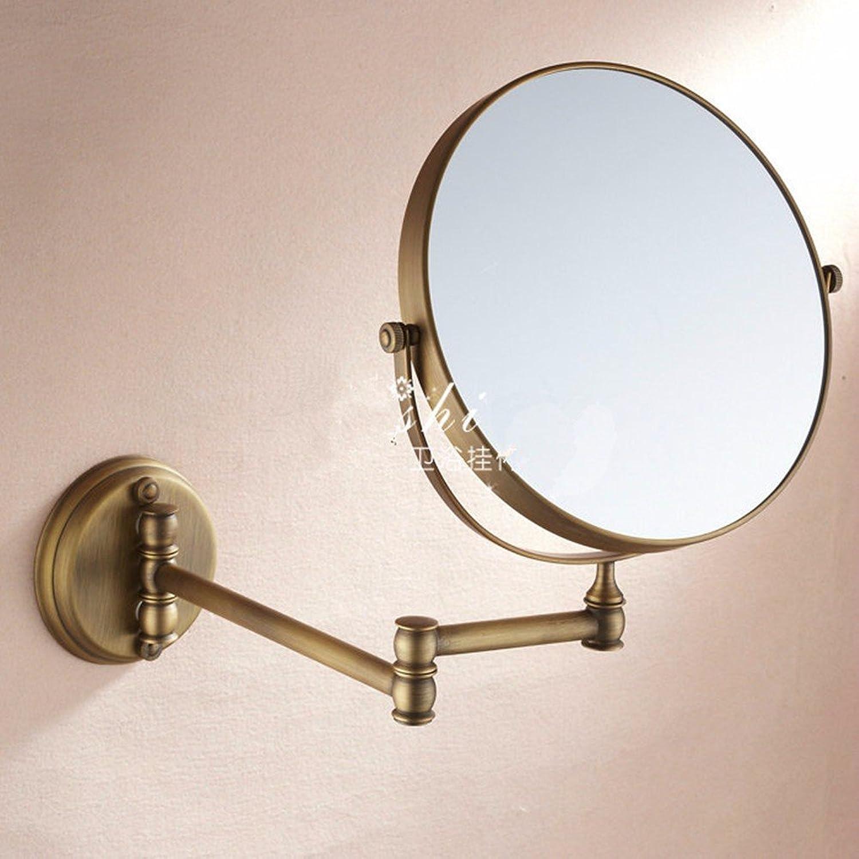 Antique copper bathroom vanity mirror folding bathroom magnifying glass wall mount mirror-8 inch