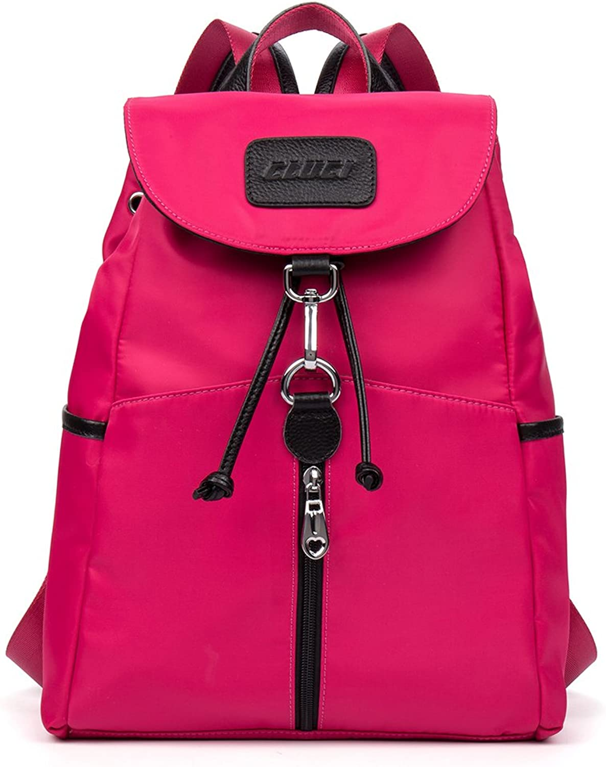 CLUCI Geniune Leather Backpack Purse Fashion Designer School Bags for Women