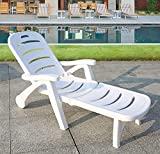 Mecedoras Jardín,Tumbonas Al Aire Libre, Tumbonas De Playa para Nadar, Camas Plegables para Tomar El Sol