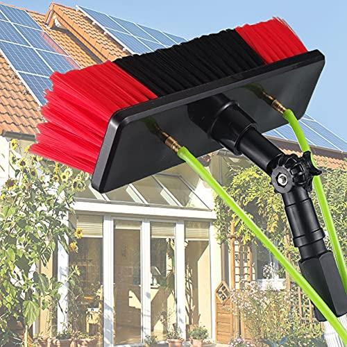 Limpiador fotovoltaico para Panel fotovoltaico, Herramienta de Limpieza de Panel Solar, rociador de Agua, Cepillo de Limpieza de Vidrio / 30cm brush head / 6M